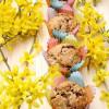 Rezept: Bananenmuffins mit Haselnüssen und Osterhasen-Schokostückchen