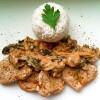 Rezept: Ayvar-Schweinemedallions mit Ruccola-Champignon-Gemüse