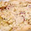 Rezept: Yufka-Pizza mit Thunfisch und Olivenpaste