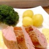Rezept: Rosa Schweinefilet mit Hollandaise ohne Wasserbad