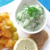 Rezept: Gurkensalat mit Joghurt und Kräutern