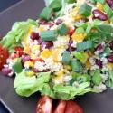 Salatglück-Freitag: Leichter Hirsesalat mit Paprika, Mais und Kidneybohnen