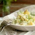 Salatglück-Freitag: Sommerfrischer Kartoffel-Spargel-Salat mit Salatgurke und Dill