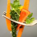 Salatglück-Freitag: Asiatisch angehauchter Wirsingkohl-Salat mit Möhren und Paprika