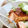 Rezept: Asiatischer Lachs mit Limetten-Koriander-Dip