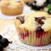 Rezept: Streuselkuchenmuffins mit Jostabeeren und Schokostückchen