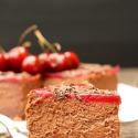 Rezept: Schoko-Mango-Cheesecake mit Kirschtopping