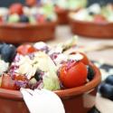 Salatglück-Freitag: Eisbergsalat mit Heidelbeerdressing und gerösteten Mandeln
