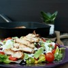 Salatglück-Freitag und Produkttest: Mexikanischer Salat mit Ranch-Dressing und Taco-Grillhähnchen aus meiner neuen Grillpfanne