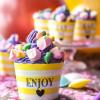 Rezept + Verlosung: Kunterbunte Brausepulver-Cupcakes zum Kindergeburtstag