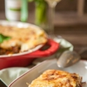Rezept: Vegetarische Grünkohl-Lasagne mit getrockneten Steinpilzen
