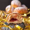 Rezept: Luftig, lockere Berliner Pfannkuchen aus dem Ofen mit selbstgemachter Kirschmarmelade (Synchronback-Beitrag)