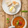 Rezept: Vegane Grillgemüse-Suppe mit Couscous