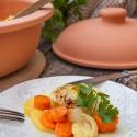 Rezept: Curry-Kokos-Gemüse aus dem Römertopf mit einem Hauch Ingwer