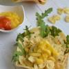 Sommerfest:  Nudelsalat mit Obst und Mango-Chutney von Sarah von Kinder, kommt essen! (Gastbeitrag)
