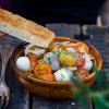 Rezepte: Bunter Tomatensalat und Mexikanischer Salat mit Gourmet Focaccia von Mestemacher
