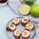 Rezept: Sushi selber machen mit Westfälischem Pumpernickel und Westfälischem Vollkorn-Brot von Mestemacher