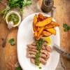 Gegrilltes Steak mit Chimichurri vom George Foreman Präzisions-Fitnessgrill