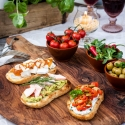 Antipasti selber machen mit Italienischem Bio Landbrot und Italienischen Bio Wraps von Mestemacher