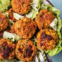Vegetarische Frikadellen mit knackiger Paprika und Mais