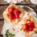 Schnelles Blätterteig-Rezept: Erdbeer-Plunder
