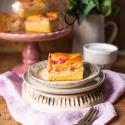 Rhabarber-Kuchen-Blech mit Pudding