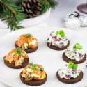Weihnachtsmenü: Vorspeise mit GOURMET PUMPERNICKEL von Mestemacher