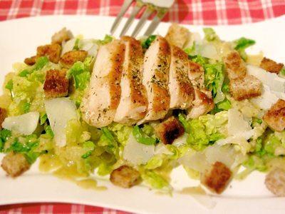 Caesar Salad ohne Majonäse