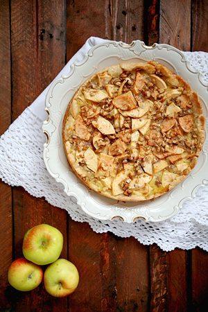 Rezept: Apfelkuchen mit Walnüssen