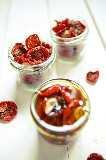Rezept: Getrocknete Tomaten aus dem Ofen in Öl