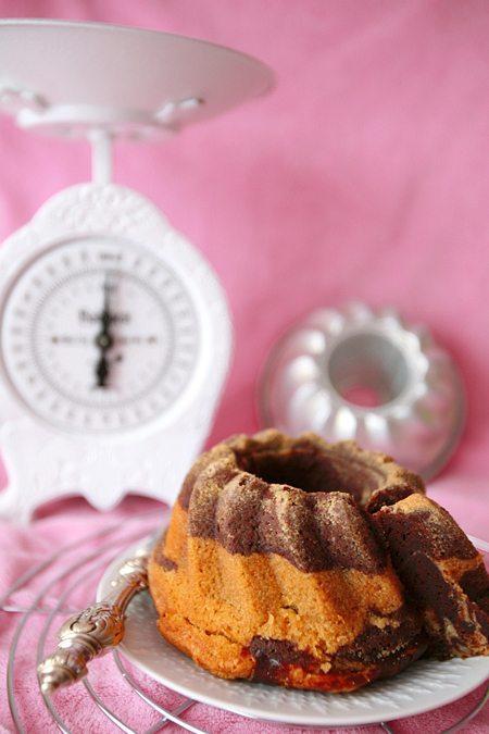 Süßkartoffel-Marmor-Gugelhupf