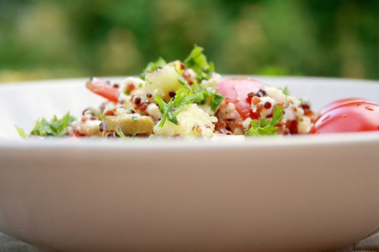 rezept quinoa salat griechischer art und kleines quinoa wissen. Black Bedroom Furniture Sets. Home Design Ideas