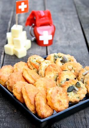 Rezept: Dinkel-Käseplätzchen, ein selbstgemachter gesunder Knabberspaß