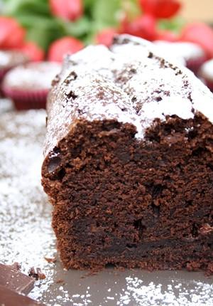 Rezept: Sündiger Schokoladenkuchen mit Schokostückchen und Vanille
