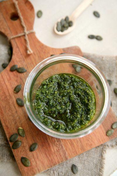 Bärlauch-Kürbiskern-Pesto