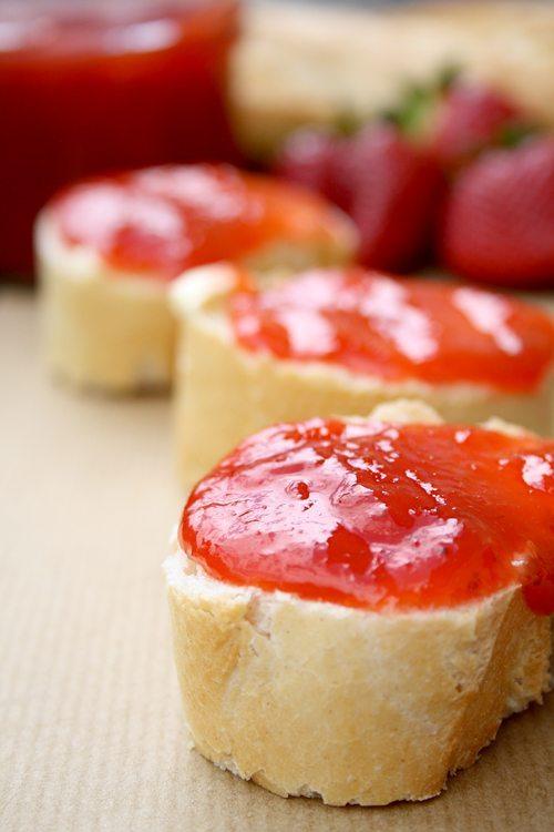 Erdbeer-Rhabarber-Ingwer-Marmelade