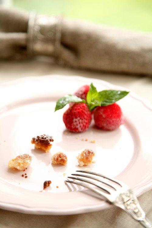 Marzipan-Streuselschnitten-Rhabarber-Kompott