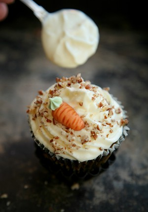 Rezept: Carrot Cake Muffins mit Cream Cheese Frosting