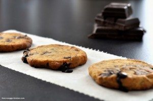 Chocolate Chip Cookies mit Frischkase