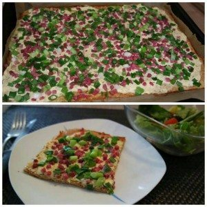 Low-Carb-Flammkuchen