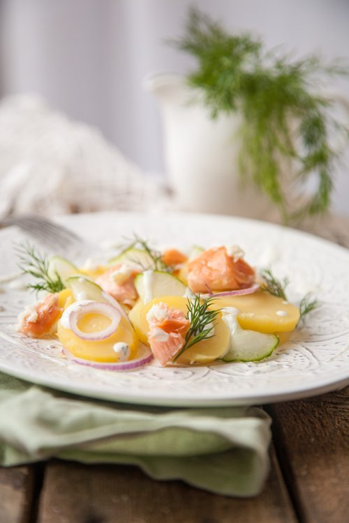Kartoffel-Gurken-Salat-Meerettich