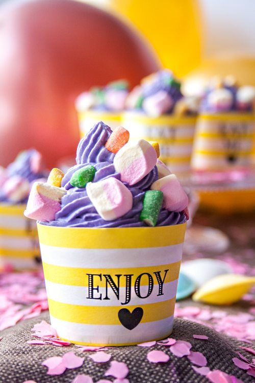 Brausepulver-Cupcakes