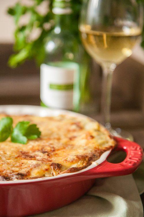 Lasagne-Gruenkohl-Steinpilze