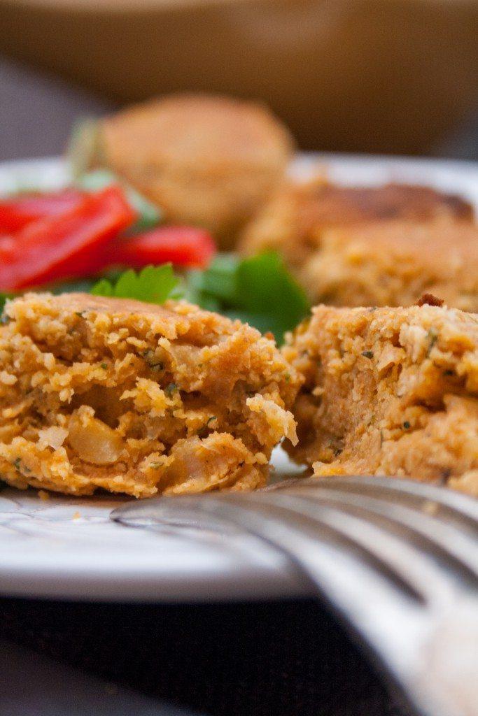 vegane Kichererbsenbällchen mit Paprika