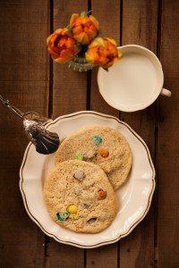 Chewy-Smartie-Cookies
