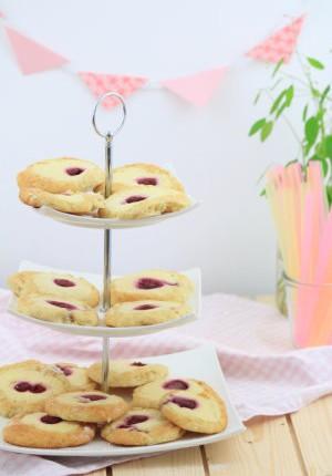 Sommerfest: Himbeer-Cheesecake-Cookies von Jenny von TULPENTAG (Gastbeitrag)