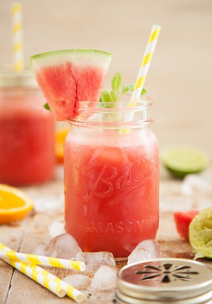 Rezept: Watermelon Lady Cocktail (alkoholfrei)