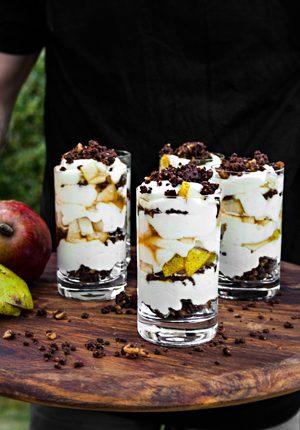 Rezept: Birnen-Pumpernickel-Dessert mit Pumpernickel von Mestemacher