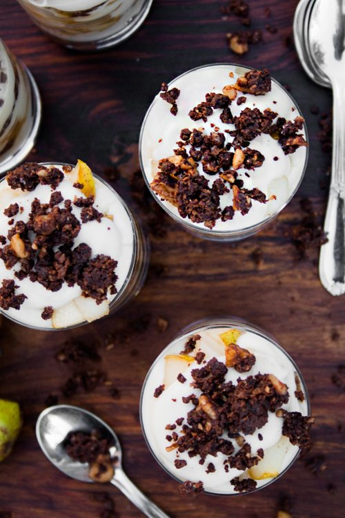 Birnen-Pumpernickel-Dessert