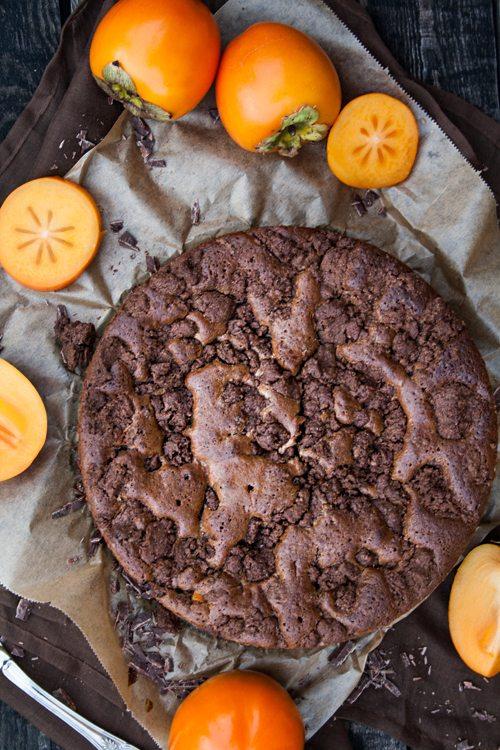 rezept schoko brownies kuchen mit schokoladenstreuseln und kakis. Black Bedroom Furniture Sets. Home Design Ideas